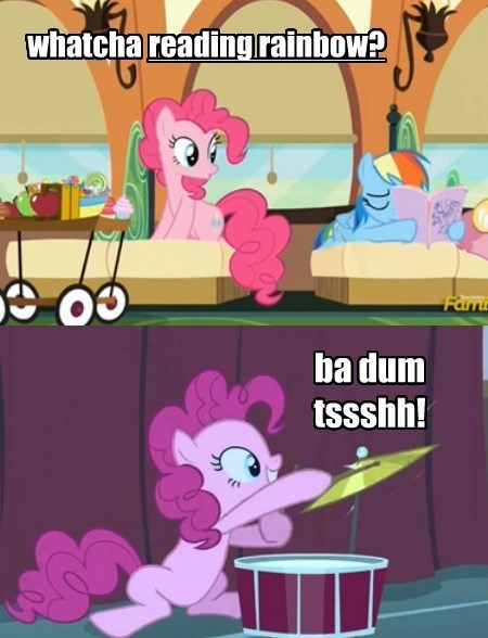 pinkie pie,reference,reading rainbow,rainbow dash