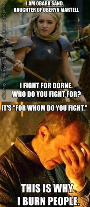 game of thrones memes season 5 Stannis thinks Dorne needs better educational standards.