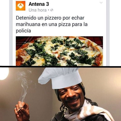 marihuana en pizza