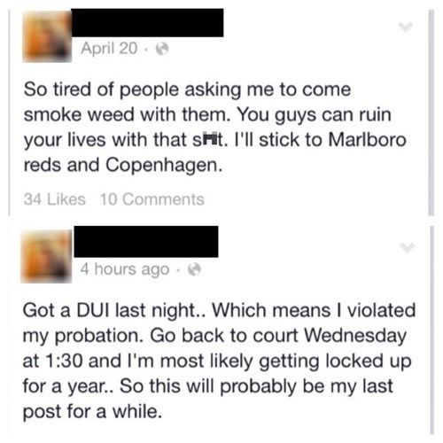 funny-facebook-fail-irony-dui-drugs