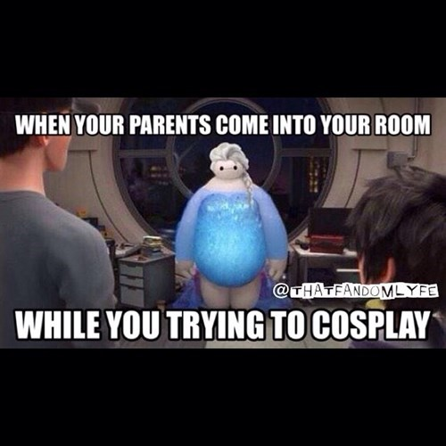 baymax,cosplay,Awkward,fandom problems,frozen