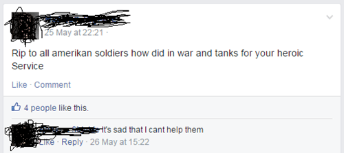 veterans facepalm memorial day spelling