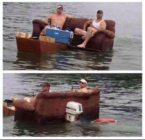 party couch boat Comfortable Setup