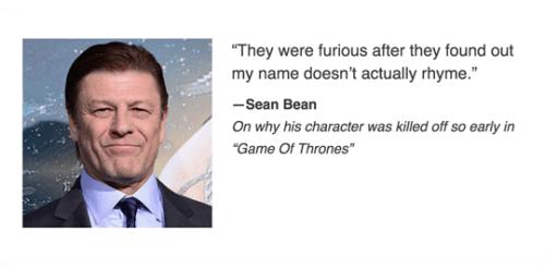 game of thrones memes season 5 sean bean explains ned stark's death