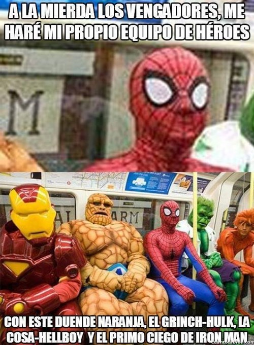 spiderman es un loquillo