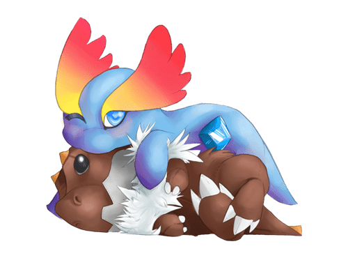pokemon memes cute tyrunt amaura fan art