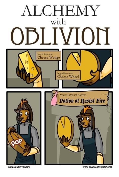 cheese comics oblivion web comics
