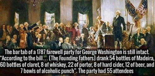 alcohol,george washington