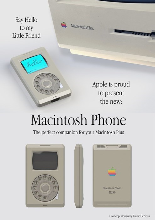 This great mock up of a 1980s iphone is pretty stellar