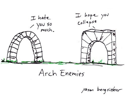 architecture enemies puns web comics