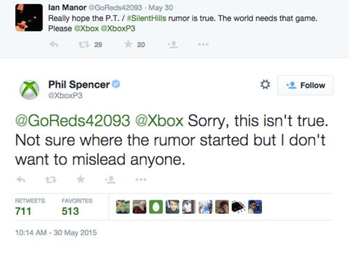 video game news silent hills xbox one rumor false
