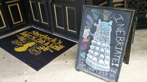 drinking doctor who signs Find the Doctor