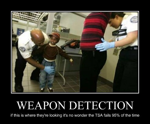 WEAPON DETECTION if this is where they're looking it's no wonder the TSA fails 95% of the time