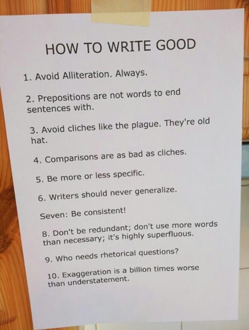 school writing image Good Writing Tips