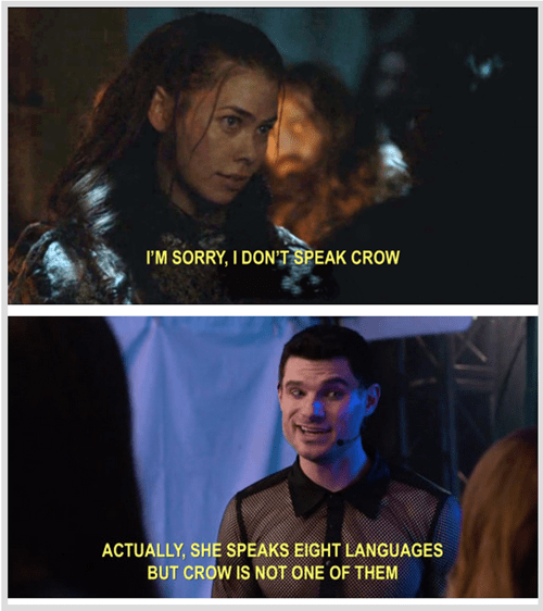 Game of thrones memes season 5 Karsi doesn't speak crow, but she speaks a lot in Pitch Perfect 2