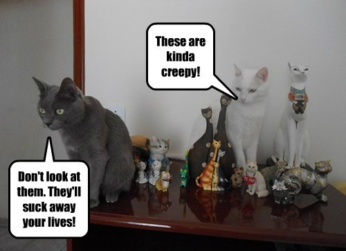 statues,creepy,Cats