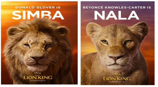 Simba and Nala of lion king
