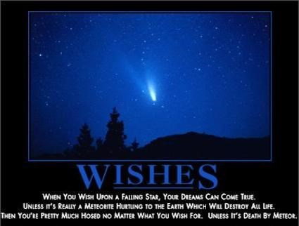 demotivational wishes image Very Specific Dreams Really Do Come True