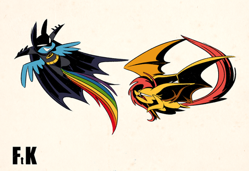 my-little-brony-flutterbat-vs-batpony-fan-art