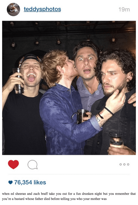 Game of thrones memes season 5 Jon snow can't even cheer up around Ed Sheeran.