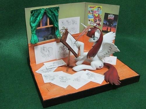 lauren faust,diorama,cute,ponify