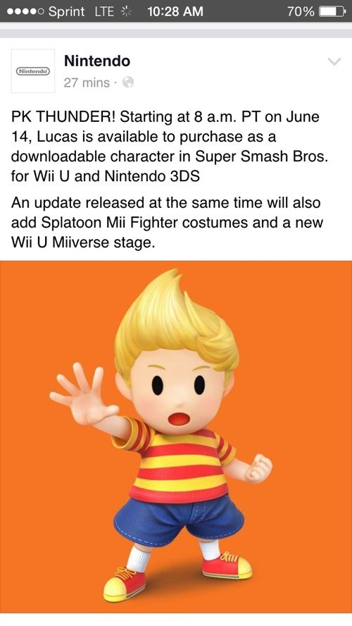 super smash bros,lucas,facebook,nintendo