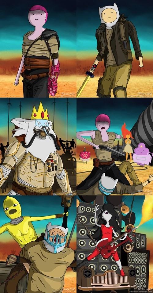 cartoon memes mad max adventure time crossover