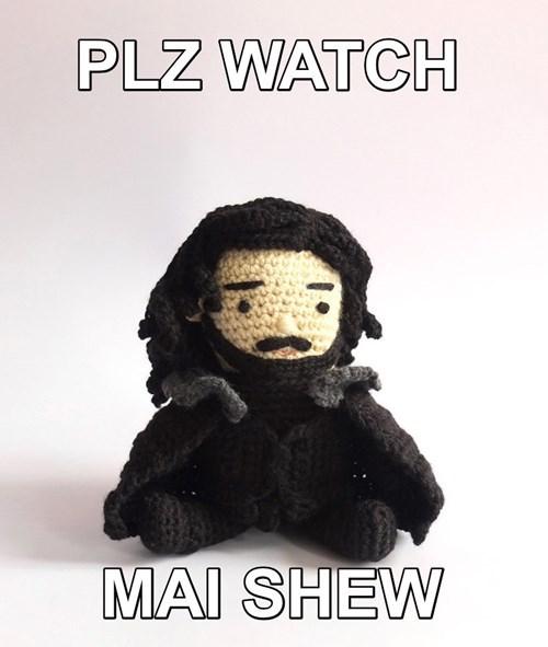 Jon Snow Game of Thrones Amigurumi - 8505373184