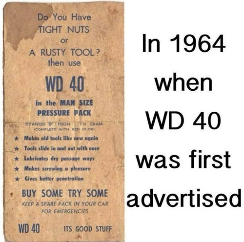 advertising wd 40 - 8505809920