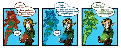legend of zelda,courage,triforce,web comics