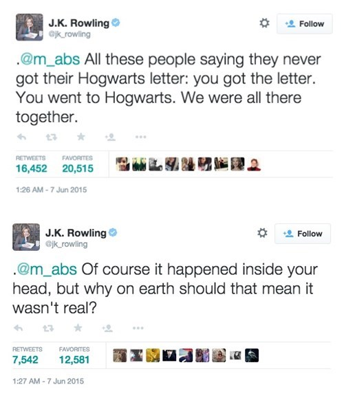 geek memes jk rowling twitter of course you went to hogwarts