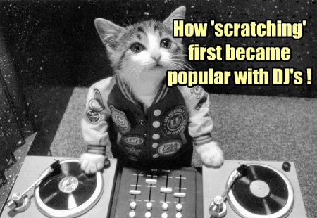 How 'scratching' first became popular with DJ's !