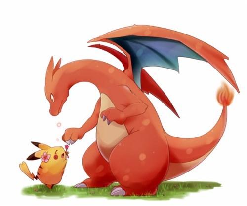 pokemon memes charizard pikachu rose