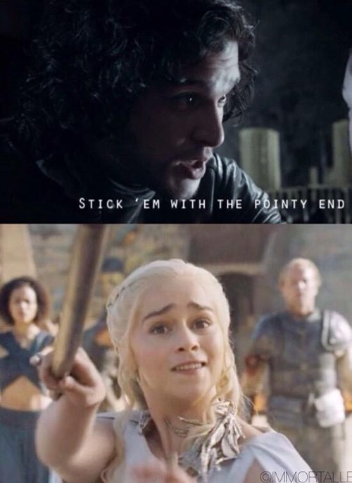 Jon Snow Game of Thrones Memes daenarys targaryen needle drogon - 8506706176