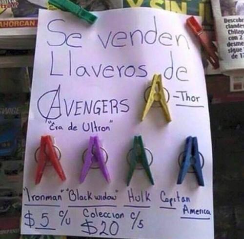llaveros avengers