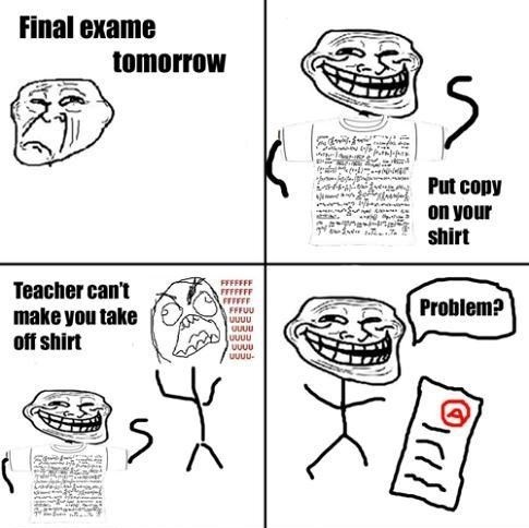 Rage Comic on School Exams