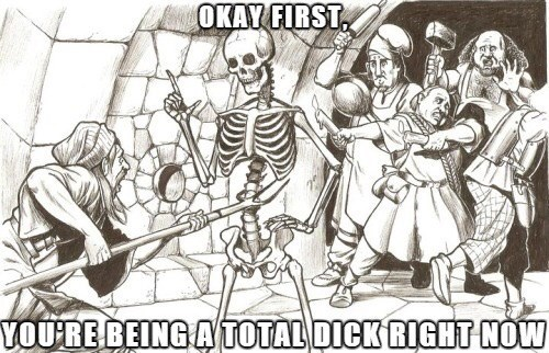 classical art memes from medieval times - Cartoon - OKAY FIRST YOURE BEING A TOTAL DICK RIGHT NOW