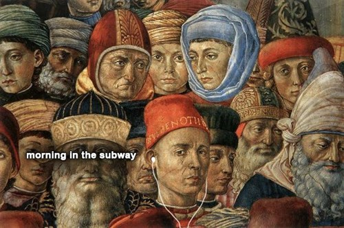 classical art memes from medieval times - People - JENOTIN morning in the subway