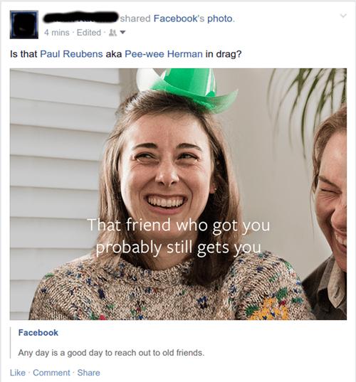 facebook suggests looks like pee wee - 8507461632