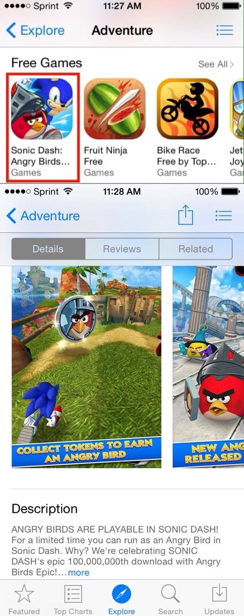angry birds,sonic the hedgehog,sega,sonic