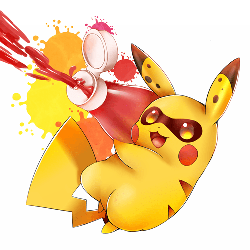 pokemon memes pikachu splatoon fan art