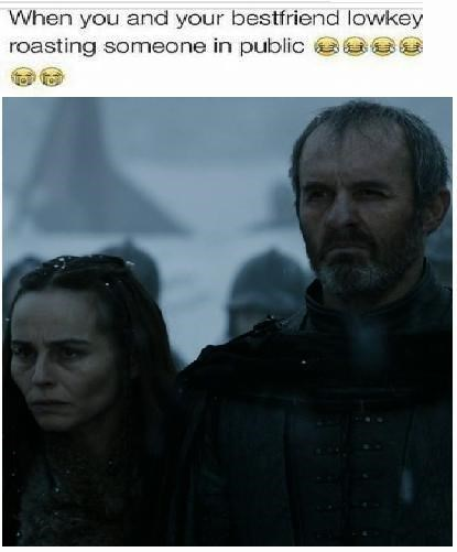 game of thrones memes season 5 stannis just doesn't care who hears him.