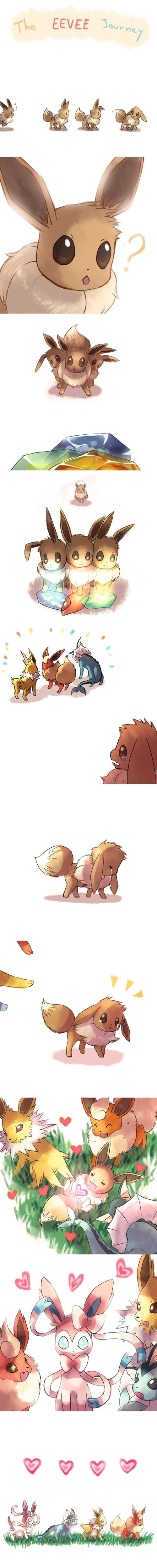 pokemon memes eevee journey