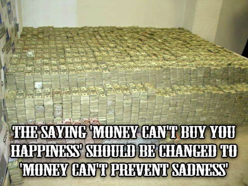 Shower thought about money and mental health