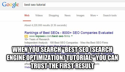 Shower thought about Googling SEO