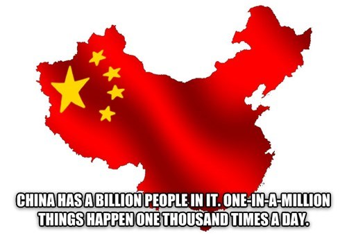 Shower thought about statistic probabilities in China
