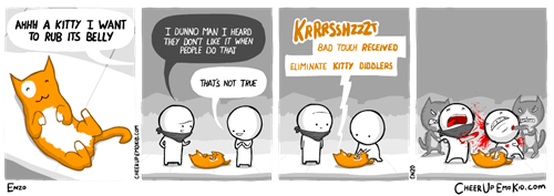 funny-web-comics-petting-a-kitty-is-risky
