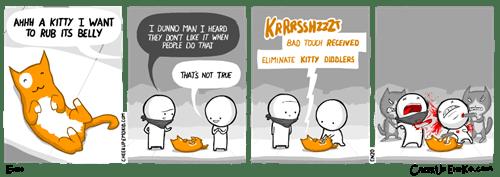 funny-web-comics-petting-a-kitty-is-risky