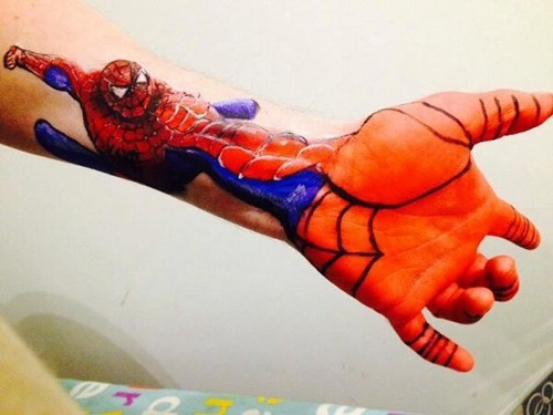 superheroes-spiderman-marvel-bad-tattoo-web-slinger