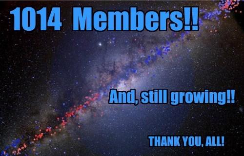 1014  Members!!